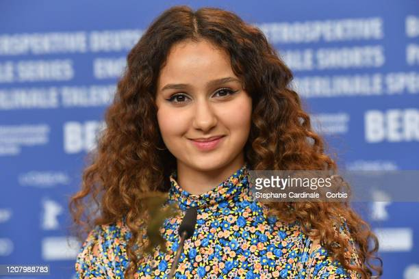 Oulaya Amamra attends the The Salt of Tears press conference during the 70th Berlinale International Film Festival Berlin at Grand Hyatt Hotel on...