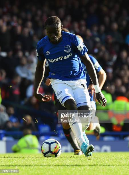Oumar Niasse of Everton during the Premier League match between Everton and Arsenal at Goodison Park on October 22 2017 in Liverpool England