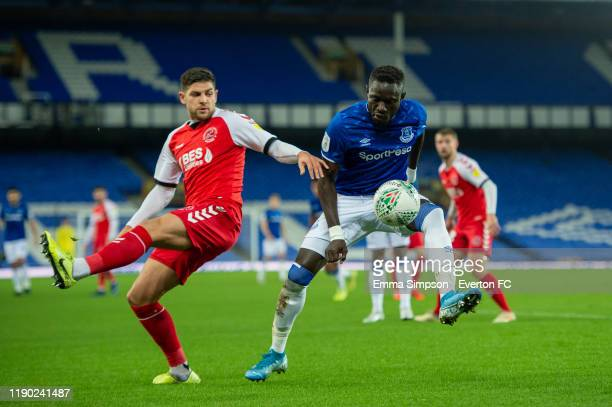 Oumar Niasse of Everton in action during the Leasing Trophy Second Round match between Everton U21 and Fleetwood Town at Goodison Park on November 26...