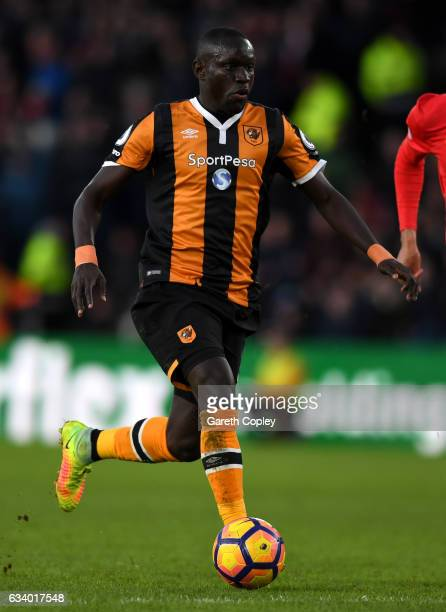 Oumar Niasse of Hull City during the Premier League match between Hull City and Liverpool at KCOM Stadium on February 4 2017 in Hull England