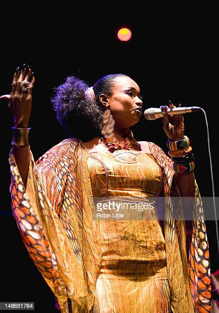 Oumou Sangare performs on stage at the Queen Elizabeth Hall on July 18 2012 in London United Kingdom