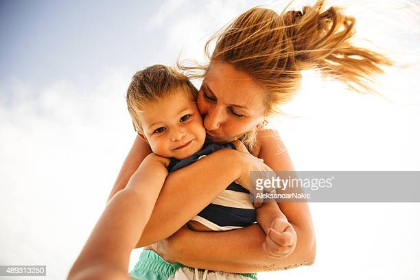 our beach days - mothers day beach stock pictures, royalty-free photos & images