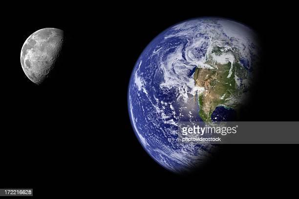 our beautiful, endangered planet - orbiting stockfoto's en -beelden