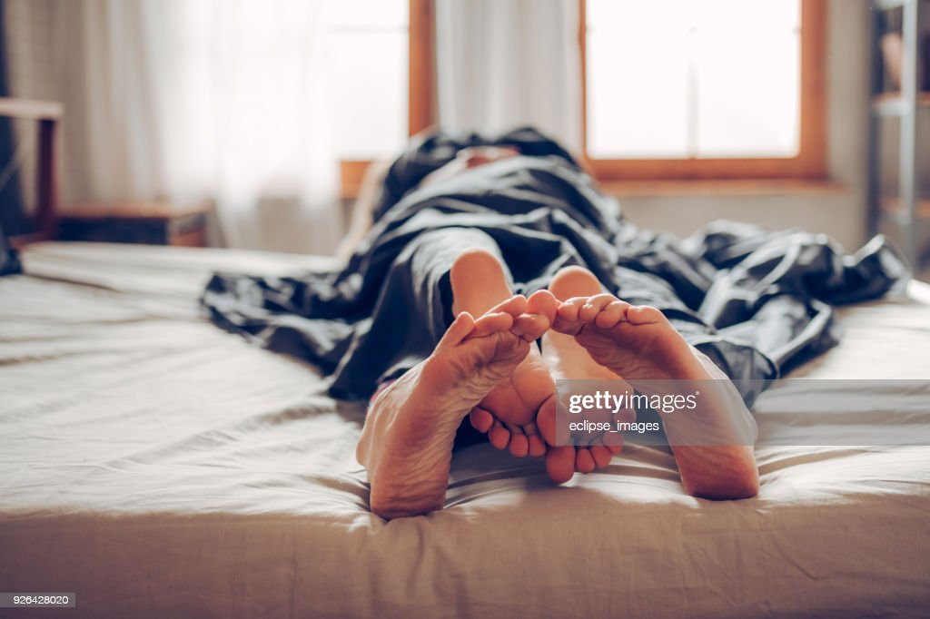 Our bed is short : Stock Photo