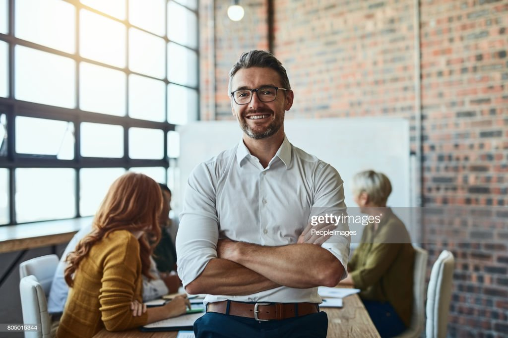 Our business is built on confidence : Stock Photo