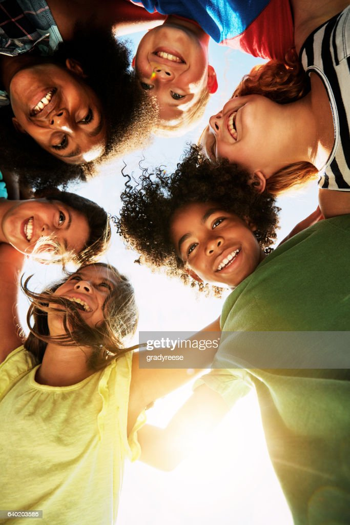 Our circle of friends is growing : Stock Photo