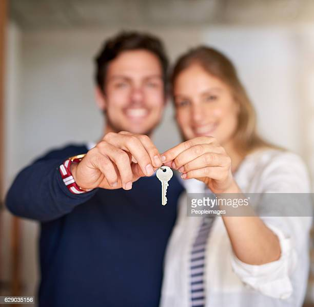 our dreams are coming true - house key stock photos and pictures