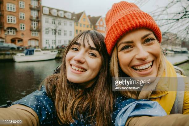 our first trip! - female friendship stock pictures, royalty-free photos & images