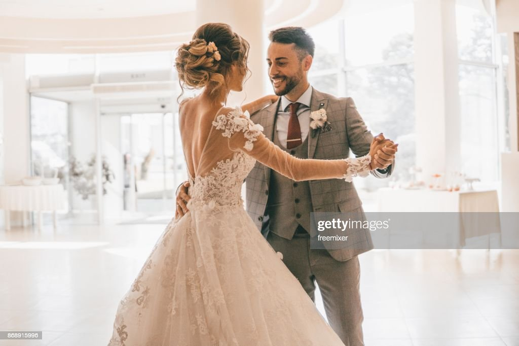 Our first wedding dance : Foto stock