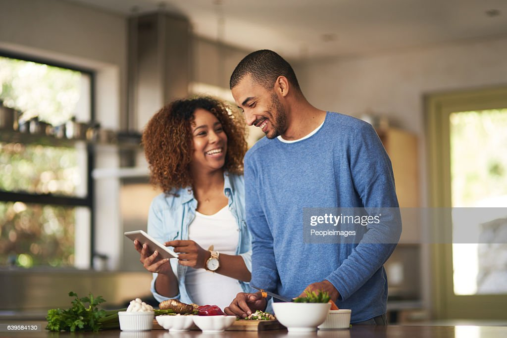 Our food looks just as good as the recipe : Stock Photo