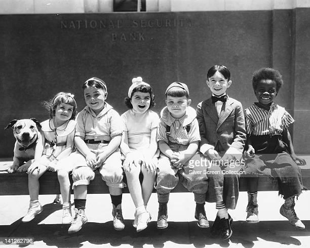 Pete the pup Darla Hood US child actress George McFarland US child actor Dorothy DeBorba Eugene Gordon Lee Carl Switzer US child actor and Billie...