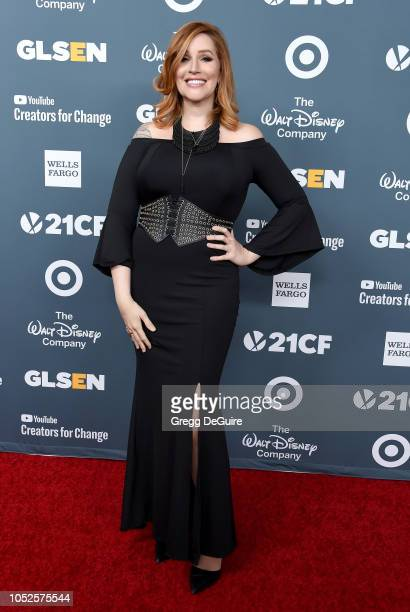 Our Lady J arrives at the GLSEN Respect Awards at the Beverly Wilshire Four Seasons Hotel on October 19 2018 in Beverly Hills California
