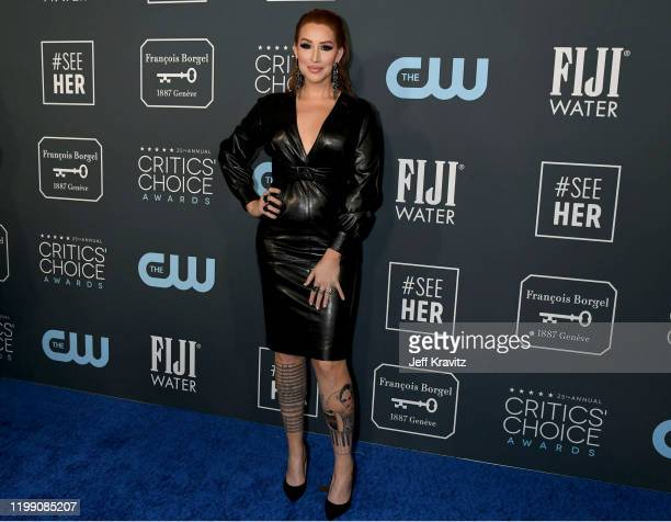 Our Lady J attends the 25th Annual Critics' Choice Awards at Barker Hangar on January 12 2020 in Santa Monica California