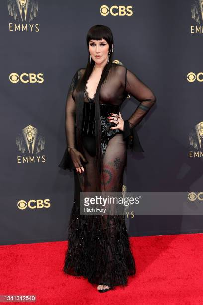 Our Lady J attends the 73rd Primetime Emmy Awards at L.A. LIVE on September 19, 2021 in Los Angeles, California.