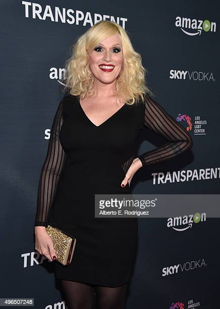 Our Lady J attends the Premiere Of Amazon's 'Transparent' Season 2 at SilverScreen Theater at the Pacific Design Center on November 9 2015 in West...