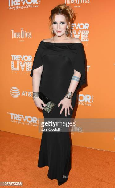 Our Lady J attends The Trevor Project's 2018 TrevorLIVE LA Gala at The Beverly Hilton Hotel on December 2 2018 in Beverly Hills California