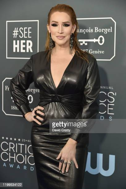 Our Lady J during the arrivals for the 25th Annual Critics' Choice Awards at Barker Hangar on January 12 2020 in Santa Monica CA