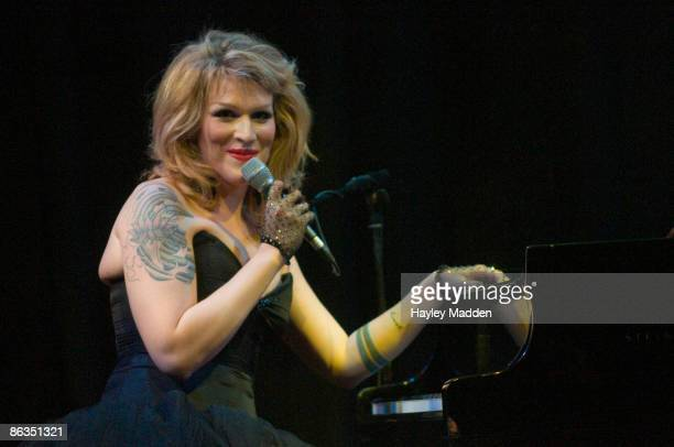 Our Lady J performs on stage at the Purcell Room on May 2 2009 in London England