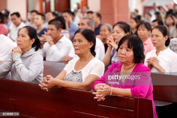 Our Lady of Fatima church Catholic mass Ho Chi Minh City Vietnam