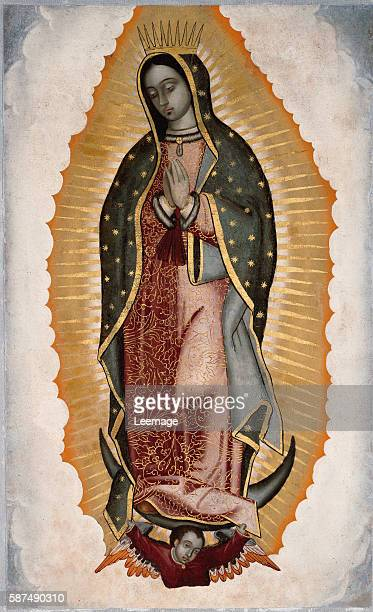 Our Lady of Guadalupe or Virgin of Guadalupe by anonymous artist 16th century Santuario della Madonna di Guadalupe Genoa