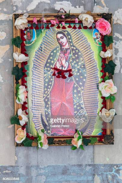 our lady of guadalupe - mexican god stock pictures, royalty-free photos & images