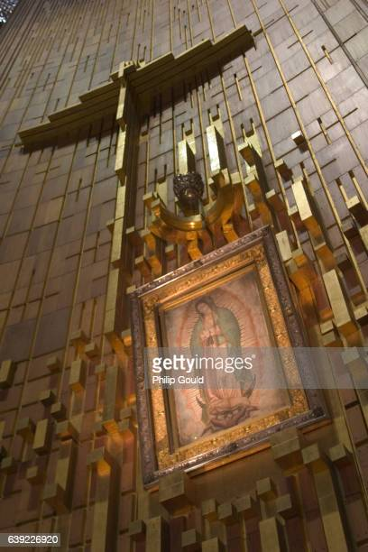 our lady of guadalupe shrine mexico city - basilica of our lady of guadalupe stock pictures, royalty-free photos & images