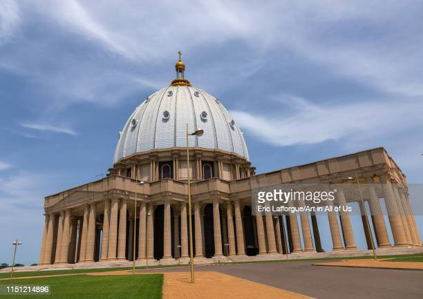 Our lady of peace basilica christian cathedral built by Félix HouphouëtBoigny Région des Lacs Yamoussoukro Ivory Coast on May 8 2019 in Yamoussoukro...