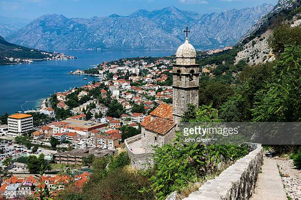 Our Lady of Remedy votive church overlooking the scenic Bay of Kotor