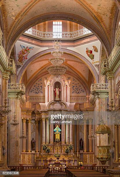 our lady of sorrows church or parroquia, dolores hidalgo - dolores hidalgo stock pictures, royalty-free photos & images