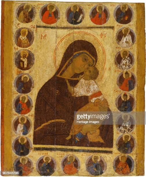 Our Lady of Tenderness with Selected Saints Found in the Collection of Museum of History and Art Suzdal