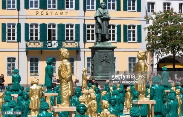 Our Ludwig the citizen action for the 250th birthday of Ludwig van Beethoven 500 times Beethoven on the Bonn Muensterplatz Art installation by the...