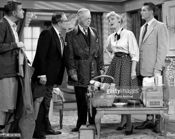 Our Miss Brooks a CBS television situation comedy Episode 'Mr Whipple' originally broadcast November 12 1952 Los Angeles CA Left to right Richard...
