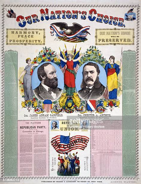 Our nation's choice Gen James Abram Garfield Republican candidate for President Gen Chester A Arthur Republican Candidate for VicePresident' Campaign...