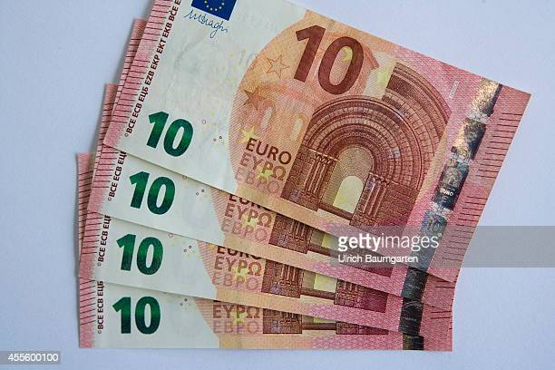 Our picture shows the new 10 Euro banknotes on September 17 2014 in Cologne Germany