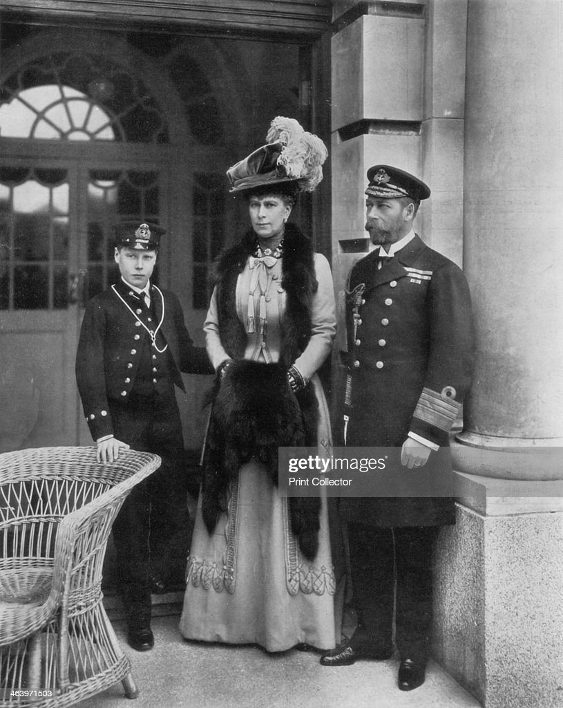 'Our Sailor King, His Consort, and the Sailor Heir to the Throne', 1910.Artist: Dinham : News Photo