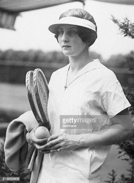 Our Schoolgirl World's Champion is Ready Miss Helen Wills champion woman tennis players of the world has forsaken the home clime of California for...