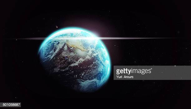 our spaceship through the dark - space mission stock pictures, royalty-free photos & images