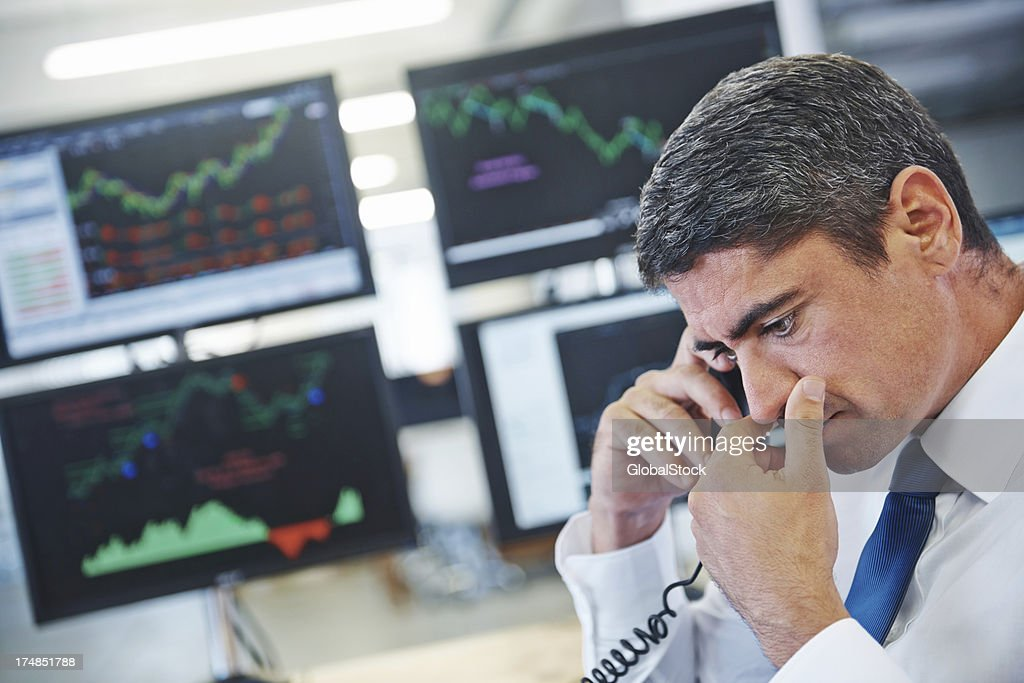 Our stocks are in trouble? : Stock Photo