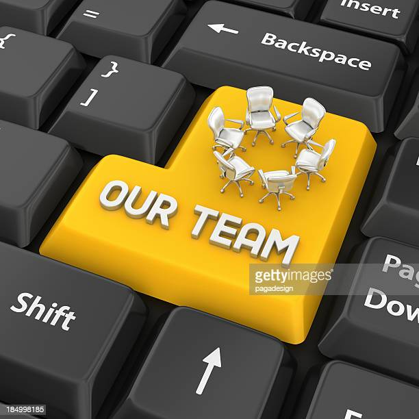 our team enter key