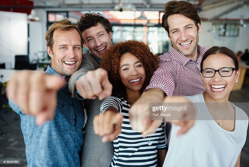 Our team wants you! : Stock Photo