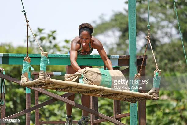 Our Time to Shine Latasha Tasha Fox of the Brains Tribe during the third episode of SURVIVOR CAGAYAN Wednesday March 12 on the CBS Television Network