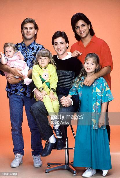 HOUSE Our Very First Show Pilot Season One Cast gallery 9/22/87 Bob Saget played widower Danny Tanner the father of three girls from left Michelle...