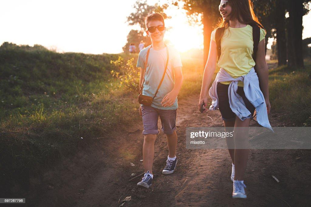 Our walk : Stock Photo