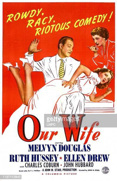 Our Wife poster US poster Melvyn Douglas Ruth Hussey Ellen Drew 1941