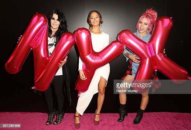 Ourfa Zinali @ourfazinali Aja Dang @ajadang Amy Pham @iamamypham attend NYX Professional makeup store grand opening ribbon cutting celebration at...