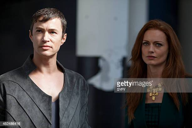 DOMINION Ourobouros Episode 107 Pictured Tom Wisdom as Michael Rosalind Halstead as Becca