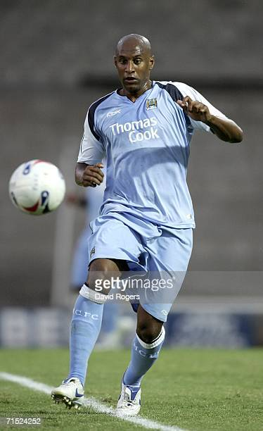Ousman Dabo of Manchester City pictured during the preseason friendly match between Port Vale and Manchester City at Vale Park on July 26 2006 in...