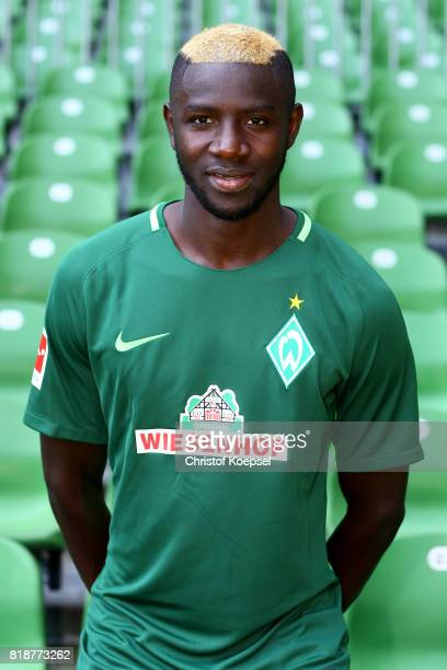 Ousman Manneh of Werder Bremen poses during the team presentation at Weser Stadium on July 19 2017 in Bremen Germany