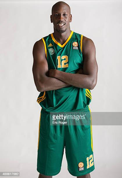 Ousmane Camara #12 of Limoges CSP poses during the Limoges CSP 2014/2015 Turkish Airlines Euroleague Basketball Media Day at Beaublanc on September...
