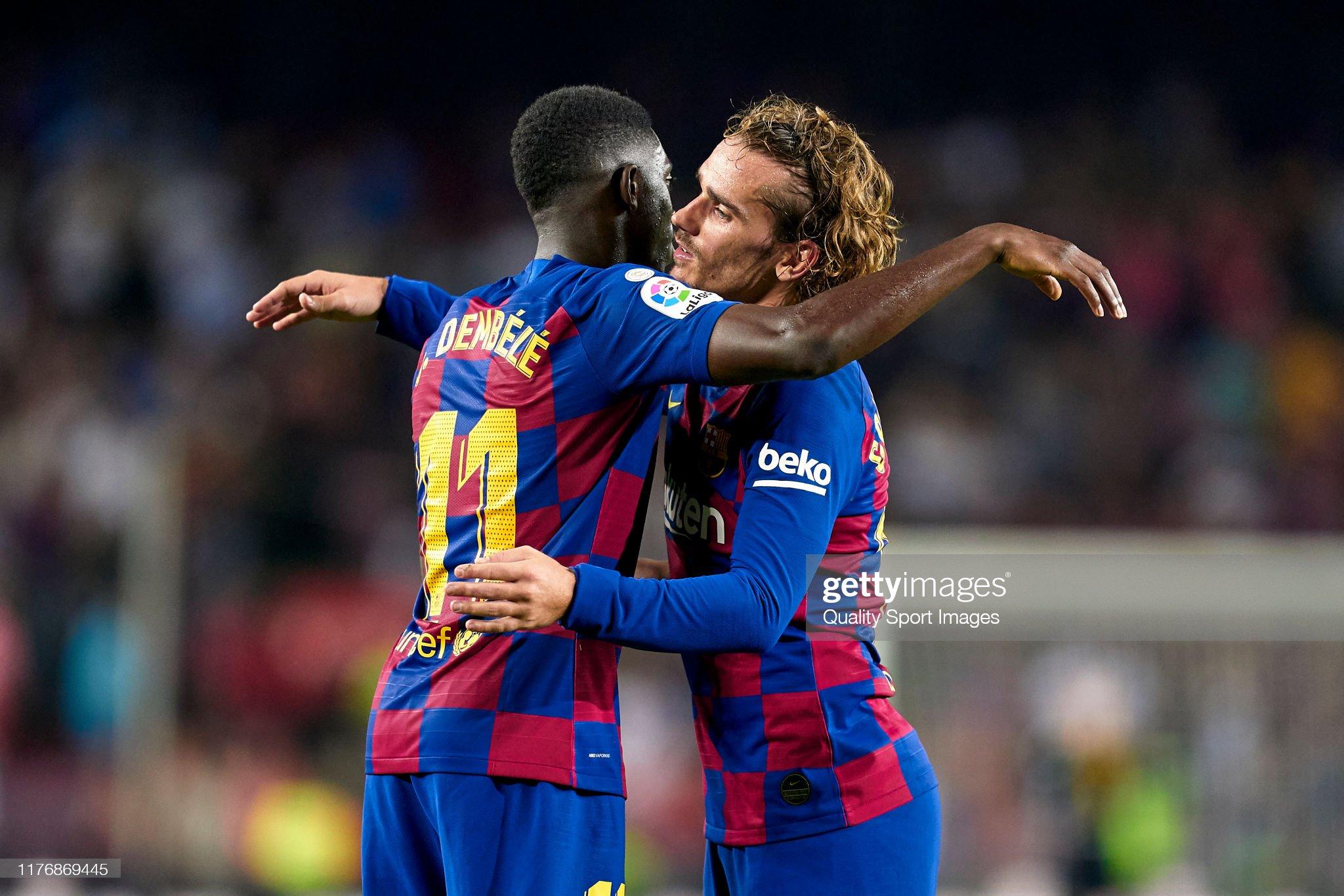 صور مباراة : برشلونة - فياريال 2-1 ( 24-09-2019 )  Ousmane-dembele-and-antoine-griezmann-of-fc-barcelona-at-the-end-of-picture-id1176869445?s=2048x2048